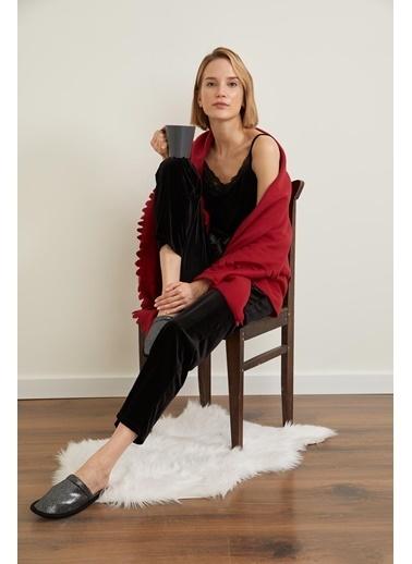 Defacto –Fit Kadife Relax Fit Pijama Altı Siyah